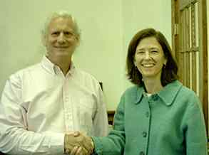 rob grant pres. adirondacks.com with diane fish - director of fund development adirondack council